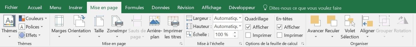 Presentation Generale D Une Fenetre Excel Excel Formation