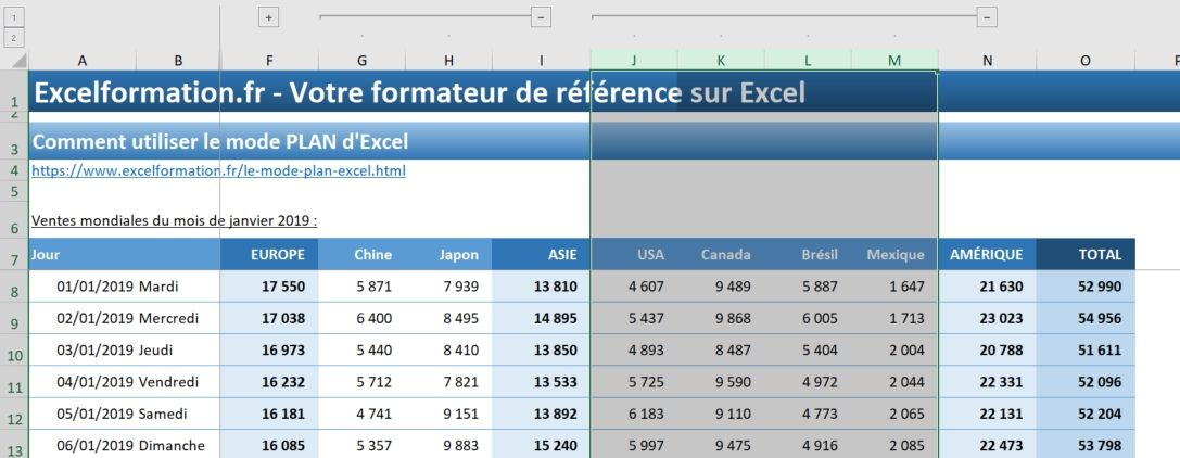 Excel formation - 023 Le mode plan - 06