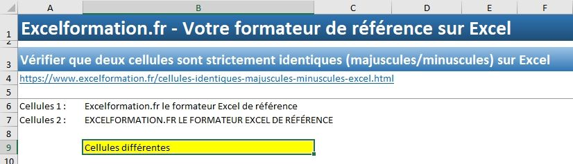 Excel formation - Cellules identiques - 08