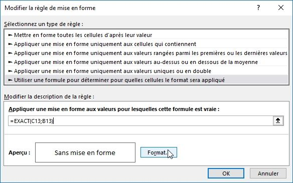 Excel formation - Cellules identiques - 14