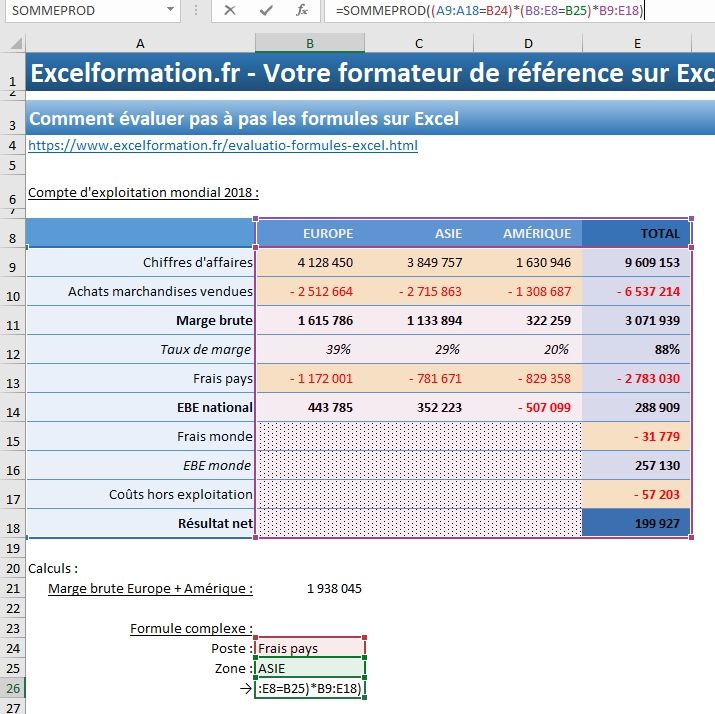 Excel formation - 027 Evaluer une formule complexe - 02