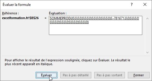 Excel formation - 027 Evaluer une formule complexe - 14