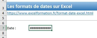 Excel formation - Dates04 Changer format date - 05