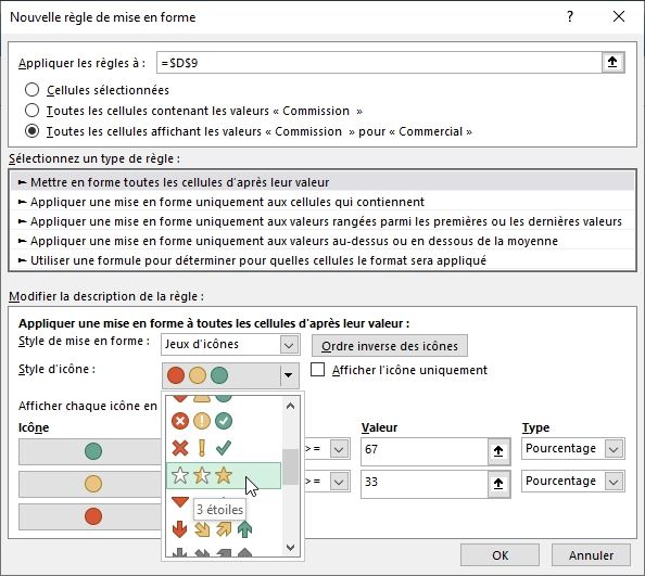 Excel formation - TCD17 - mise en forme conditionnelle - 18