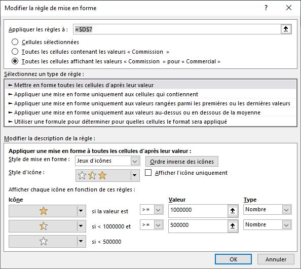 Excel formation - TCD17 - mise en forme conditionnelle - 19