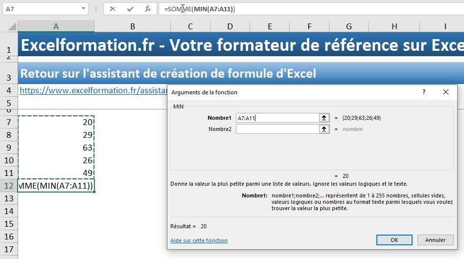 Excel formation - assistant création formules - 12