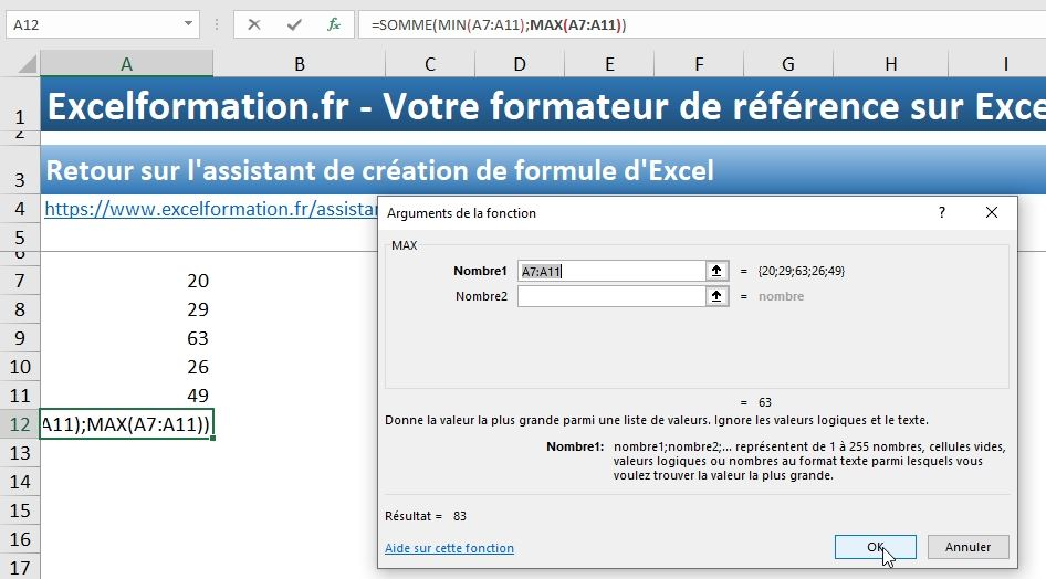 Excel formation - assistant création formules - 14
