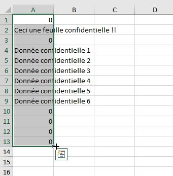 Excel formation - cacher feuille de calcul - 12