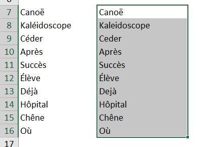Excel formation - Supprimer les accents - 04