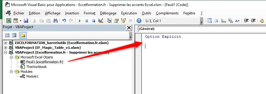 Excel formation - Supprimer les accents - 09