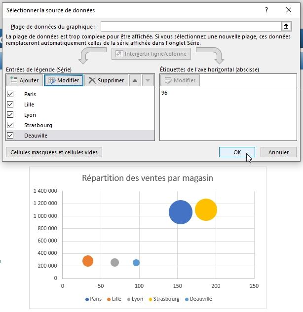 Excel formation - graphique bulle - 21