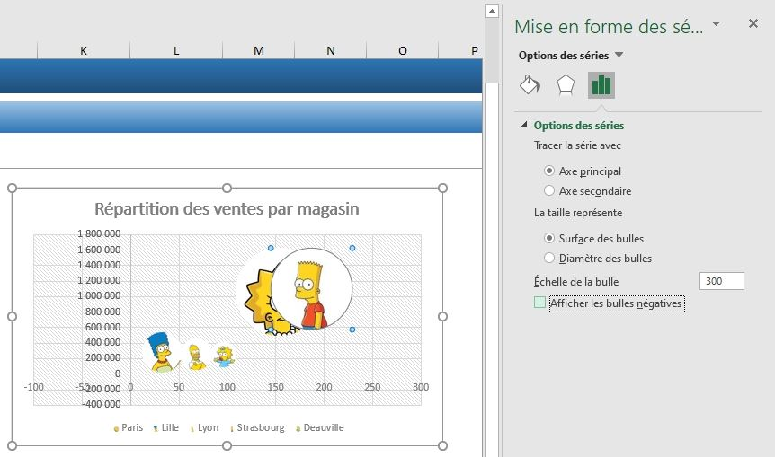 Excel formation - graphique bulle - 30