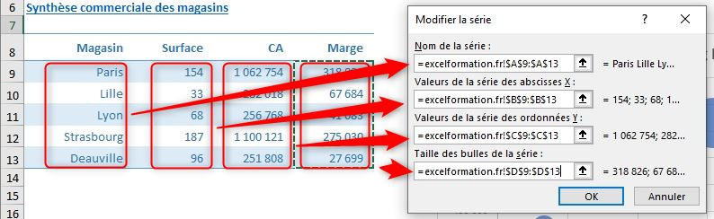 Excel formation - graphique bulle - 34